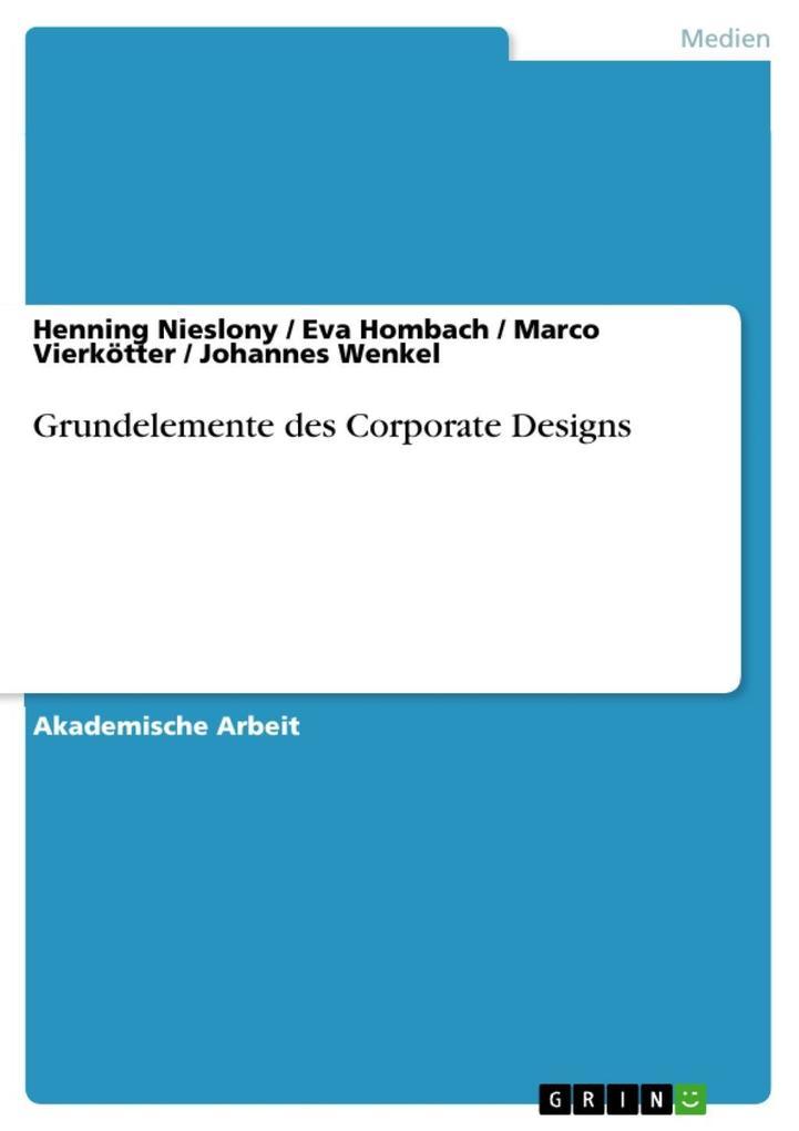 Grundelemente des Corporate Designs als eBook D...