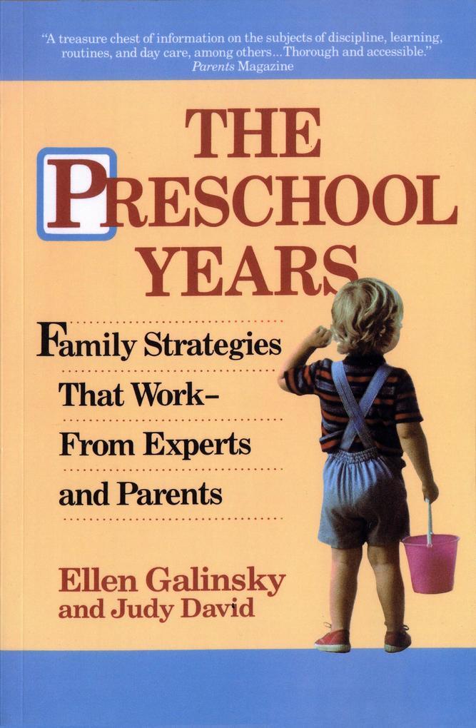 The Preschool Years als Taschenbuch