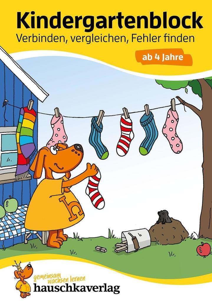 Kindergartenblock - Verbinden, vergleichen, Fehler finden ab 4 Jahre als Buch