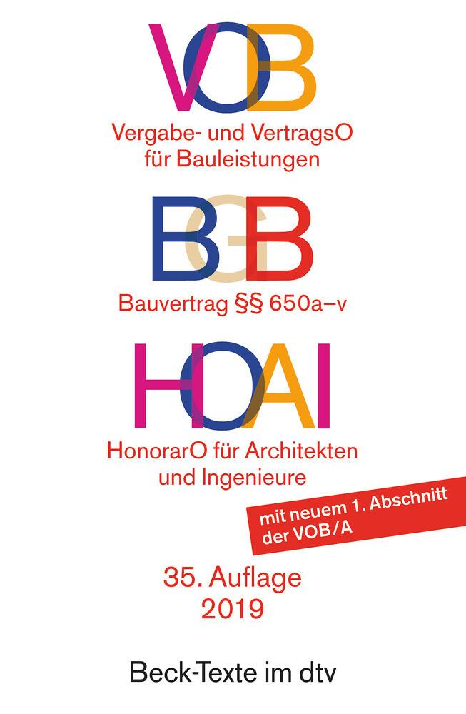 VOB / HOAI als Taschenbuch