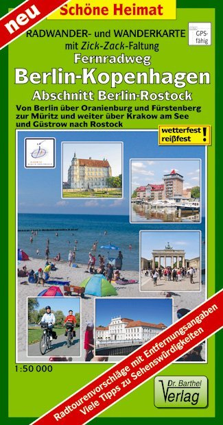 Berlin-Rostock 1 : 50 000 Teilstück des Fernrad...