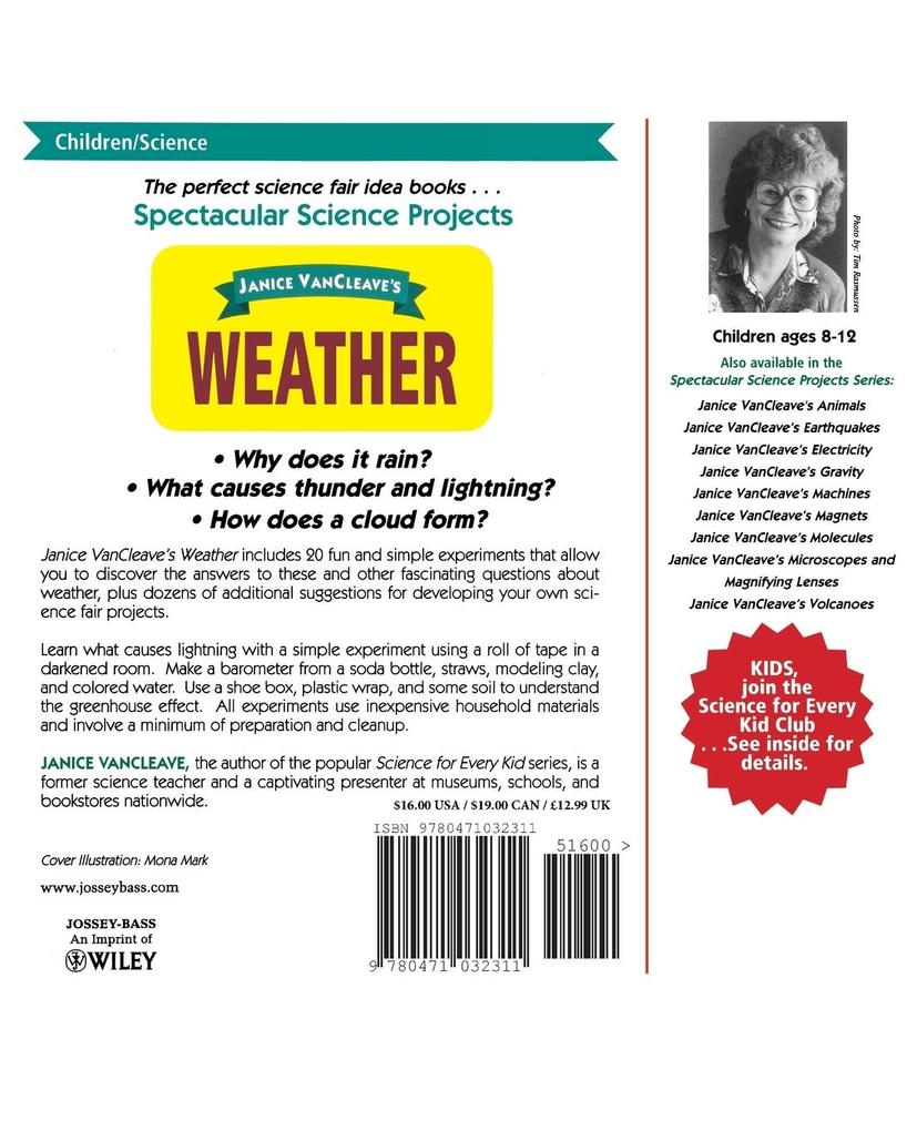 Janice VanCleave's Weather als Taschenbuch