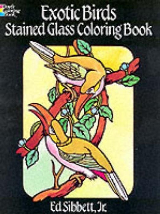Exotic Birds Stained Glass Colouring Book als Taschenbuch