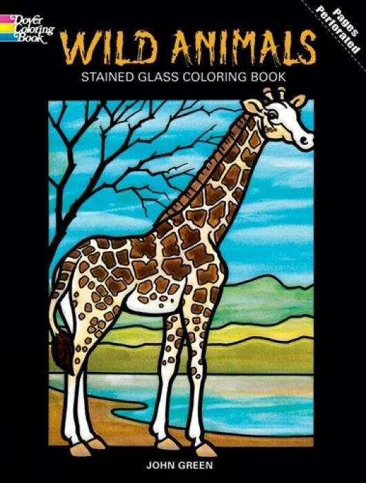 Wild Animals Stained Glass Coloring Book als Taschenbuch