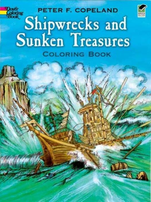 Shipwrecks and Sunken Treasures Coloring Book als Taschenbuch