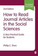 How to Read Journal Articles in the Social Sciences: A Very Practical Guide for Students