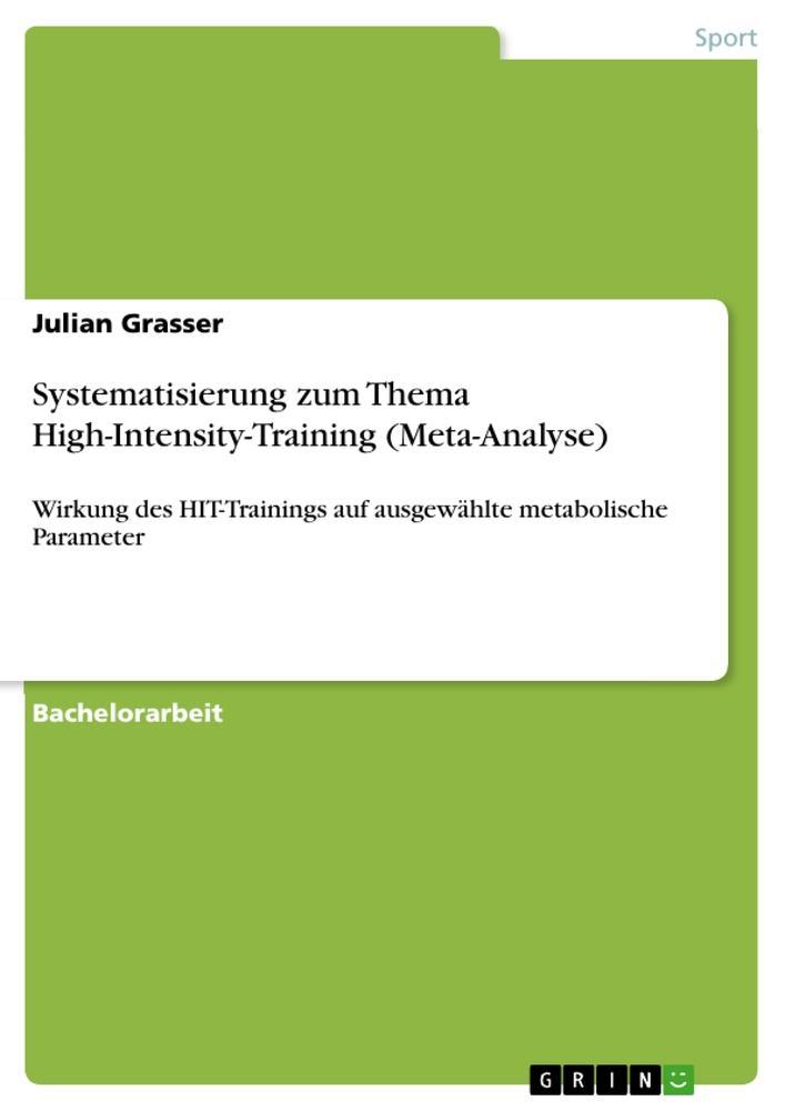 Systematisierung zum Thema High-Intensity-Train...