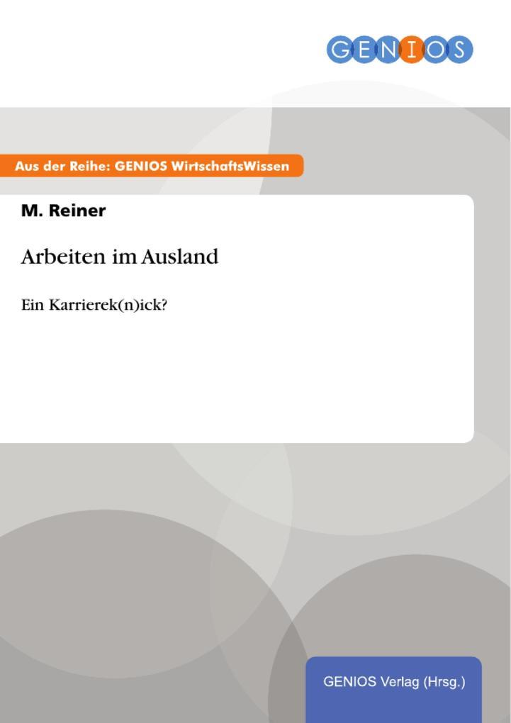 Arbeiten im Ausland als eBook Download von M. R...