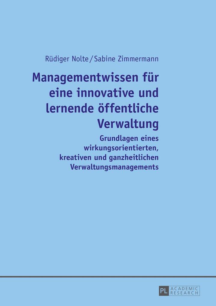 Managementwissen für eine innovative und lernen...
