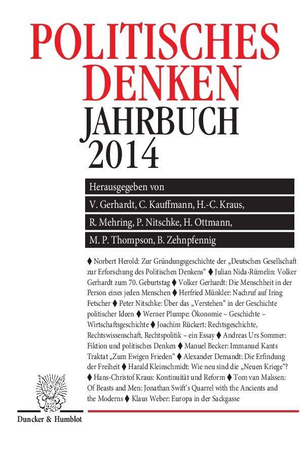 Politisches Denken. Jahrbuch 2014 als Buch von