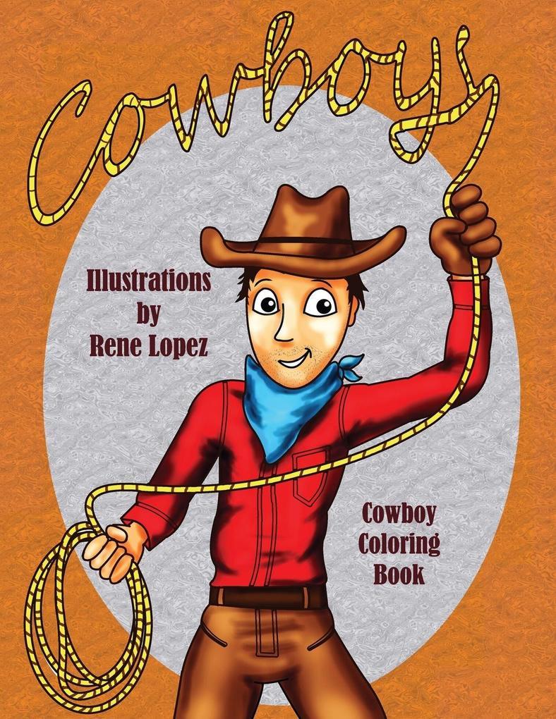 Cowboy Coloring Book als Taschenbuch von