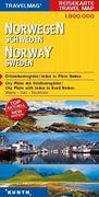 KUNTH Reisekarte Norwegen, Schweden 1 : 800 000