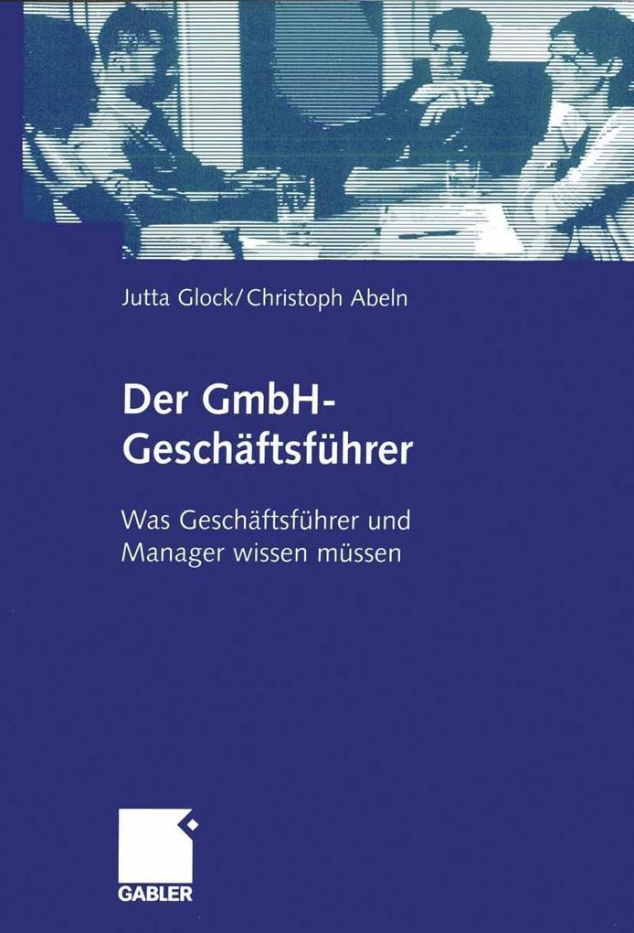 Der GmbH-Geschäftsführer als eBook Download von...