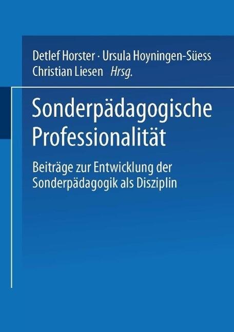 Sonderpädagogische Professionalität als eBook D...