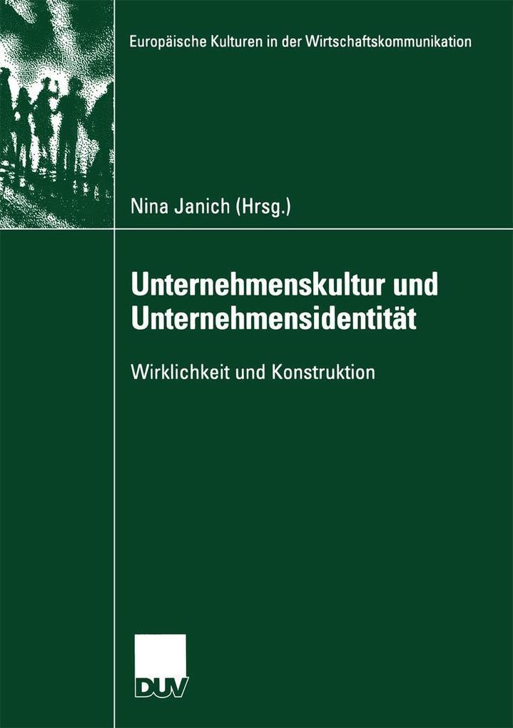 Unternehmenskultur und Unternehmensidentität als eBook pdf