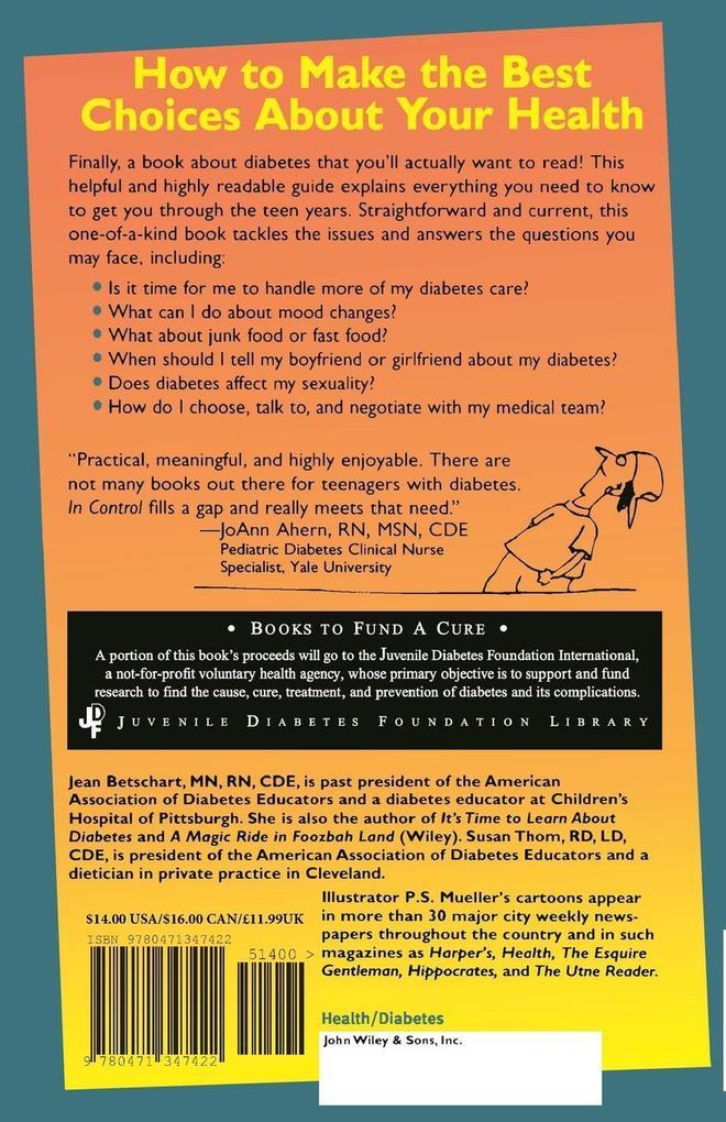 In Control Teens Diabetes als Taschenbuch