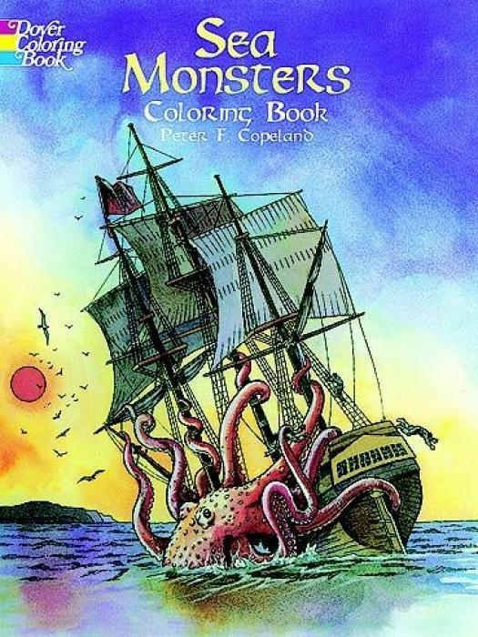 Sea Monsters Coloring Book als Taschenbuch