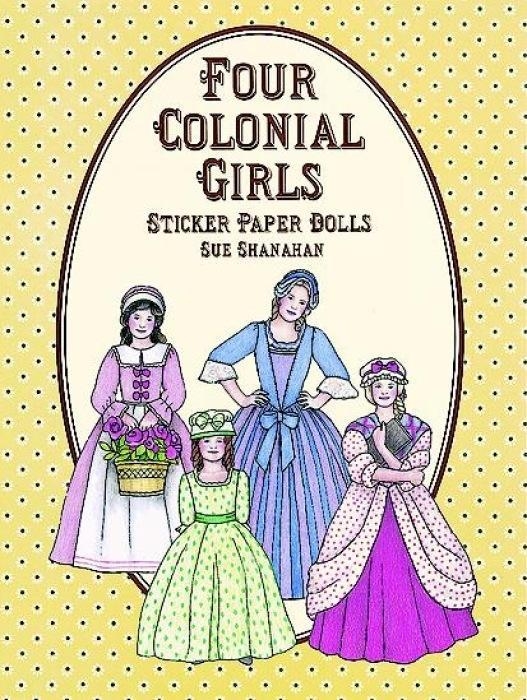 Four Colonial Girls Sticker Paper Dolls als Taschenbuch