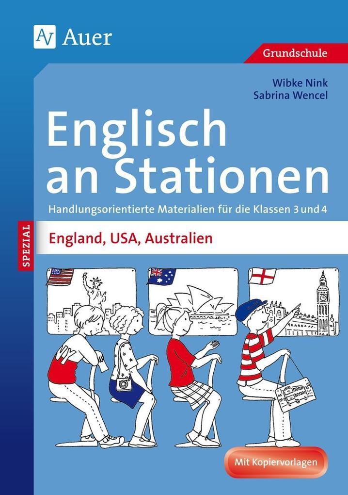 Englisch an Stationen England, USA, Australien ...