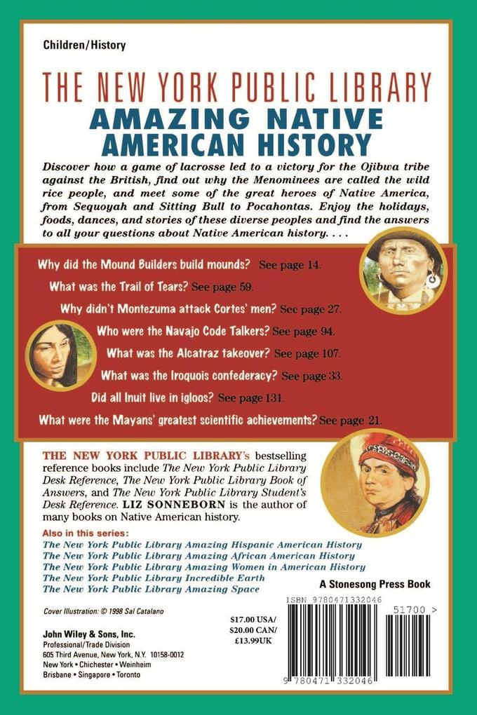 The New York Public Library Amazing Native American History: A Book of Answers for Kids als Taschenbuch
