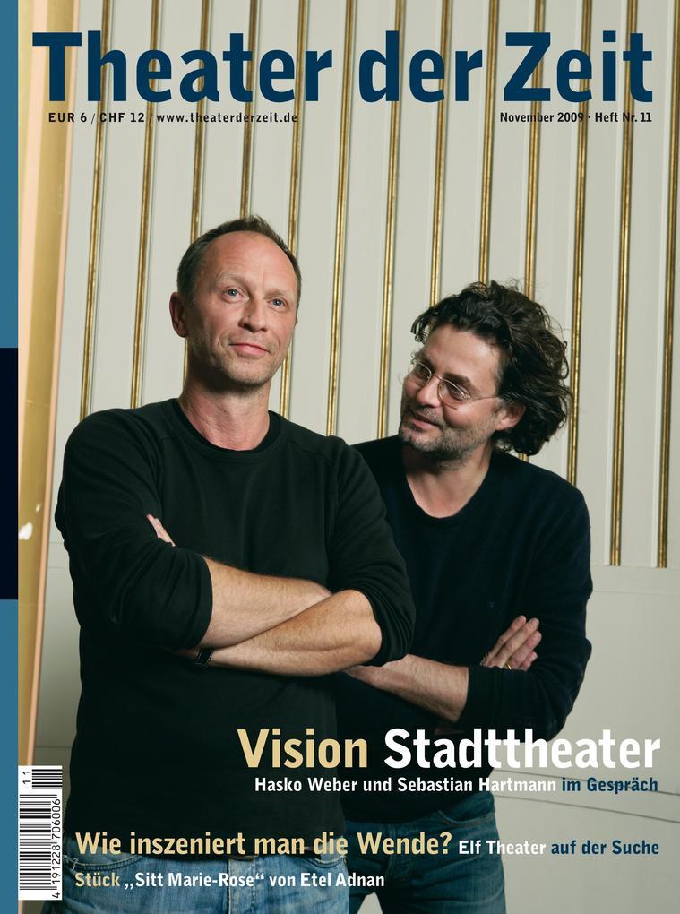 Theater der Zeit - 01. November 2009 als Hörbuc...