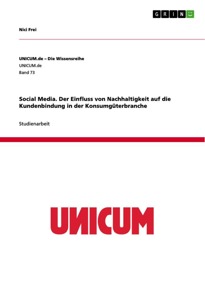 Social Media. Der Einfluss von Nachhaltigkeit a...