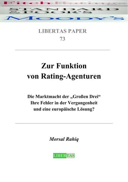 Zur Funktion von Rating-Agenturen als Buch von ...