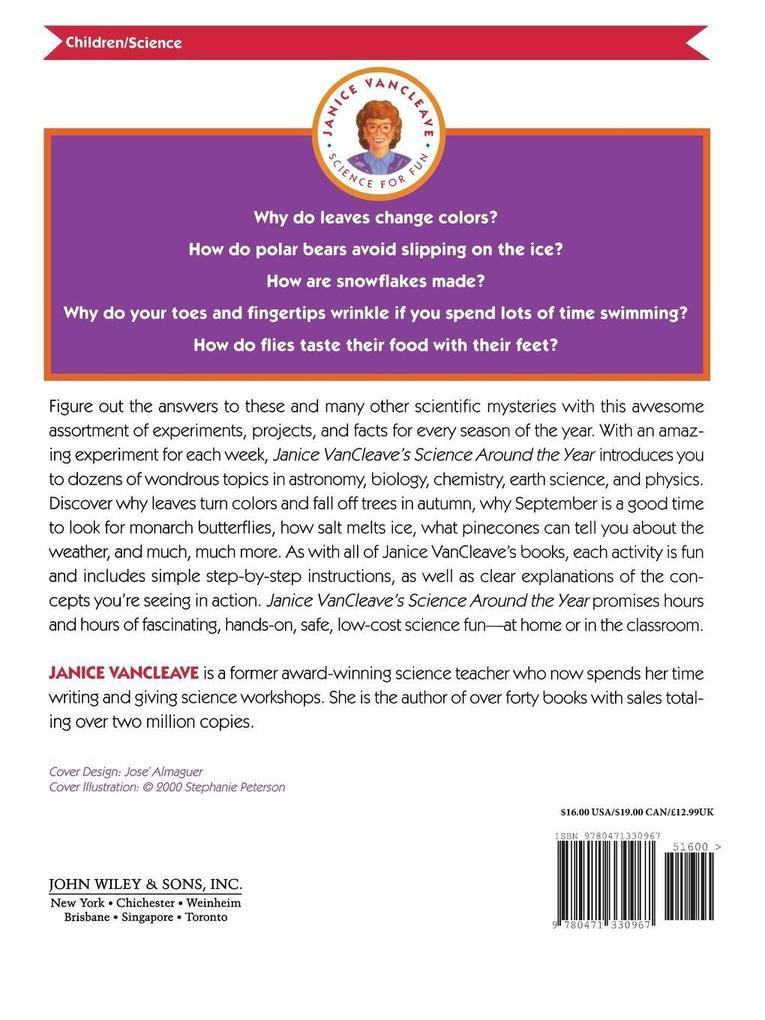 Janice VanCleave's Science Around the Year als Taschenbuch