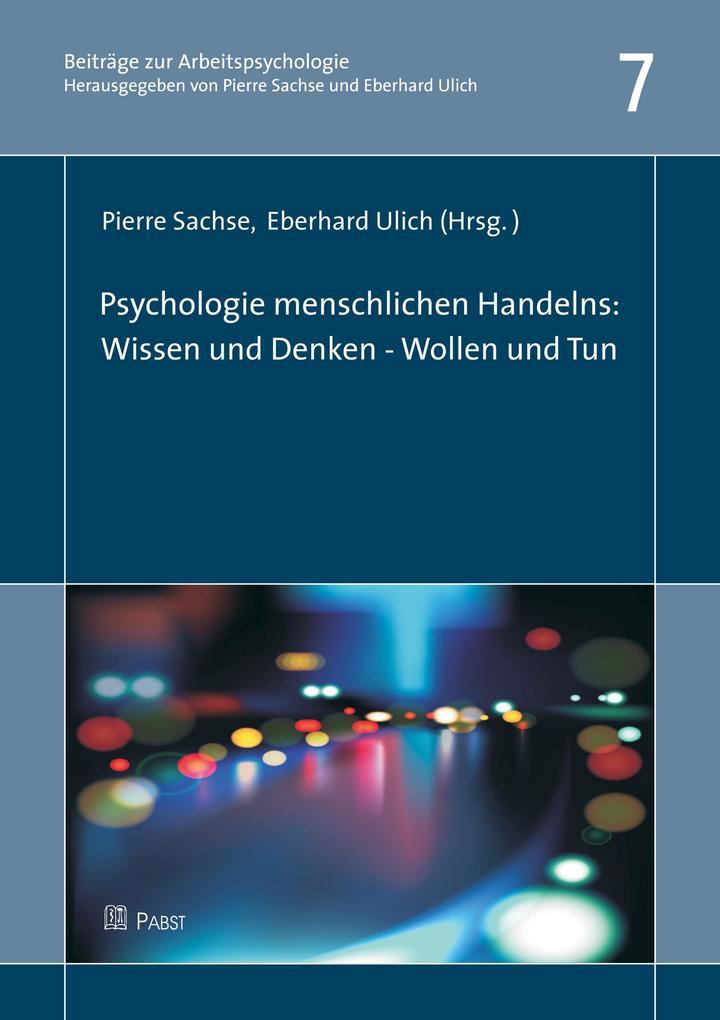 Psychologie menschlichen Handelns: Wissen & Den...