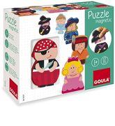 Goula Magnetisches Holzpuzzle Figuren 12-teilig