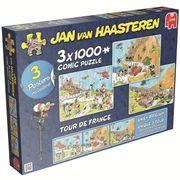 Jumbo Spiele - Jan van Haarsteren - Tour de France - 3 x 1000 Teile Puzzle