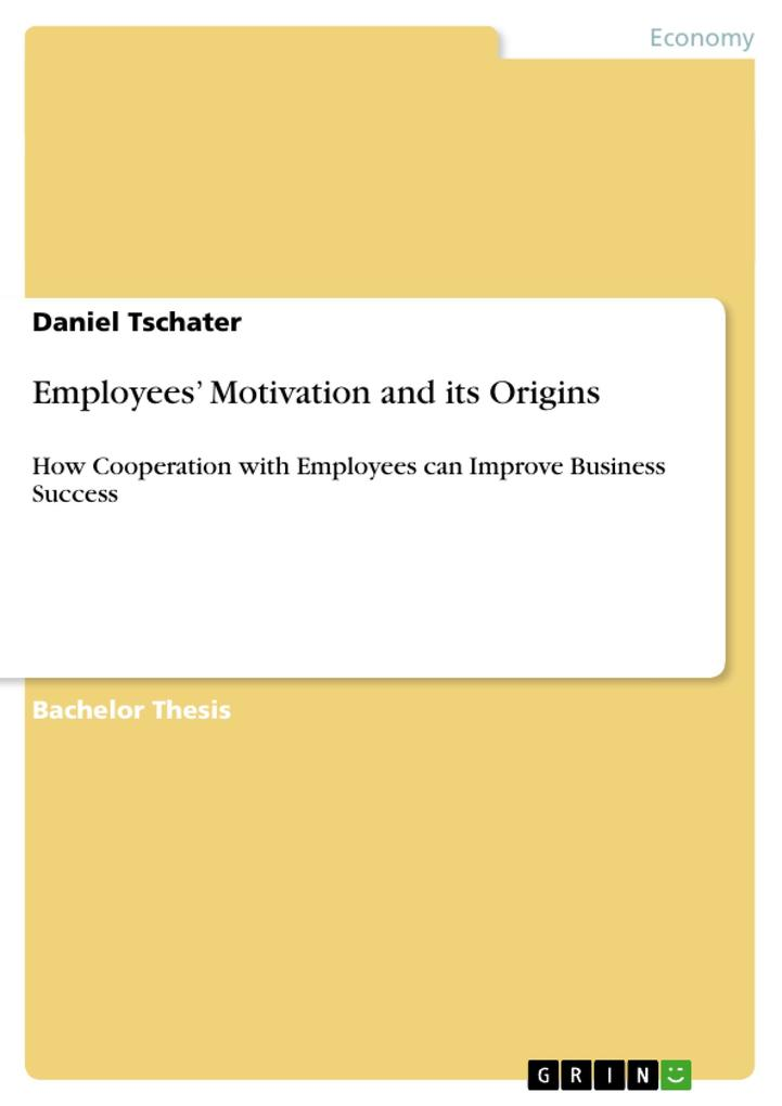 Employees´ Motivation and its Origins als Buch ...