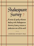 Shakespeare Survey: Volume 7, Style and Language