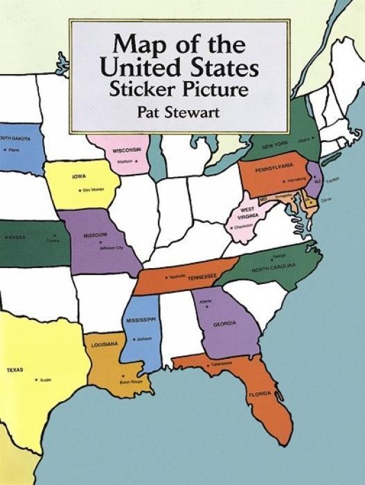 Map of the United States Sticker Picture als Taschenbuch