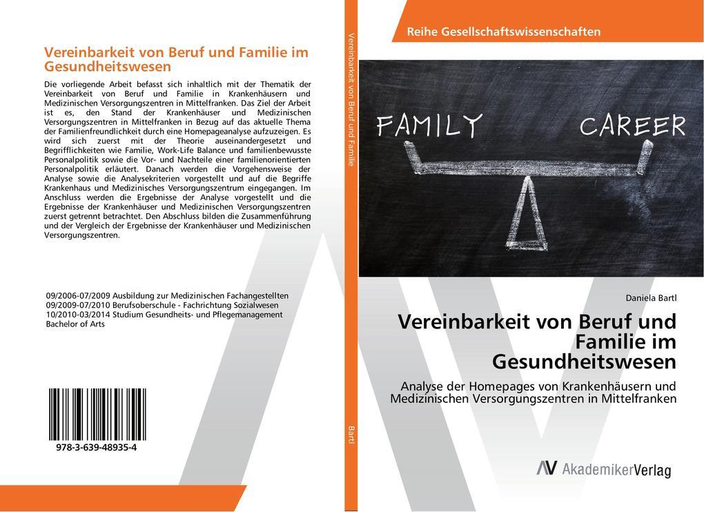 Vereinbarkeit von Beruf und Familie im Gesundhe...