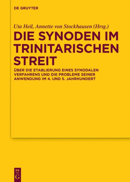 Die Synoden im trinitarischen Streit als Buch