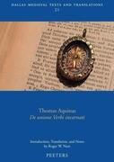 Thomas Aquinas, de Unione Verbi Incarnati
