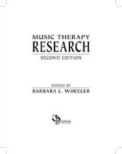 Music Therapy Research als eBook Download von