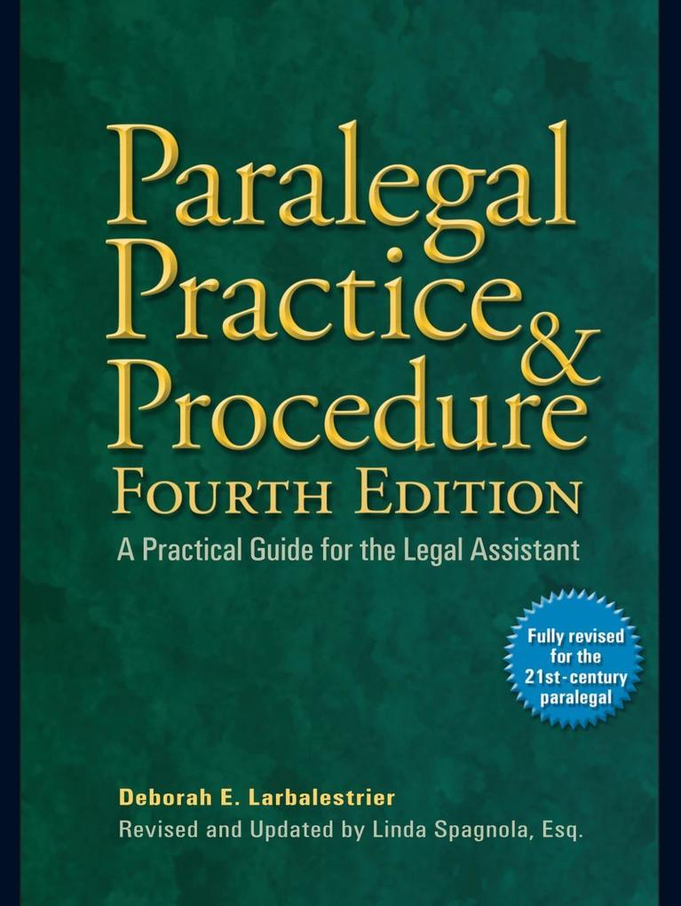 Paralegal Practice & Procedure Fourth Edition a...