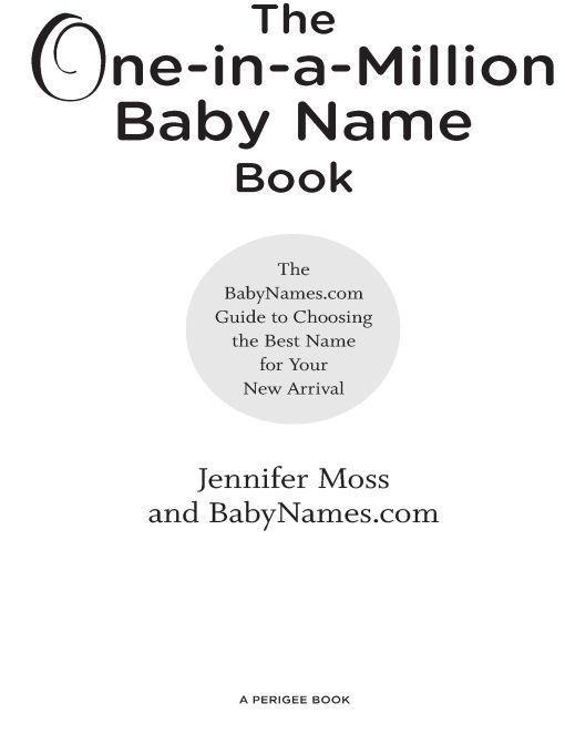 The One-in-a-Million Baby Name Book als eBook D...