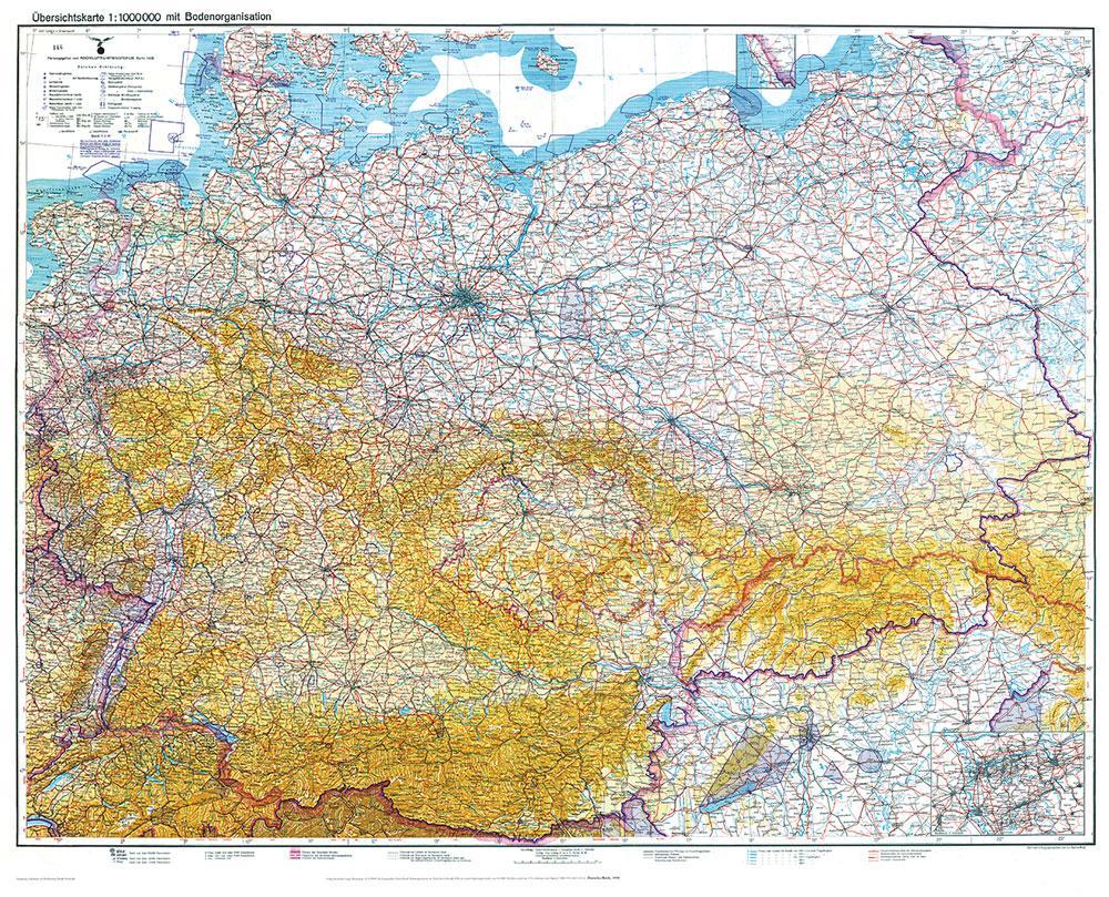 Historische Karte: DEUTSCHLAND 1938 - Übersicht...