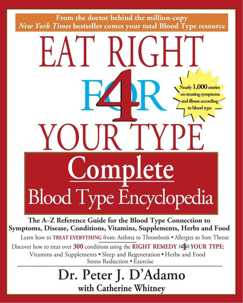 The Eat Right 4 Your Type The complete Blood Ty...