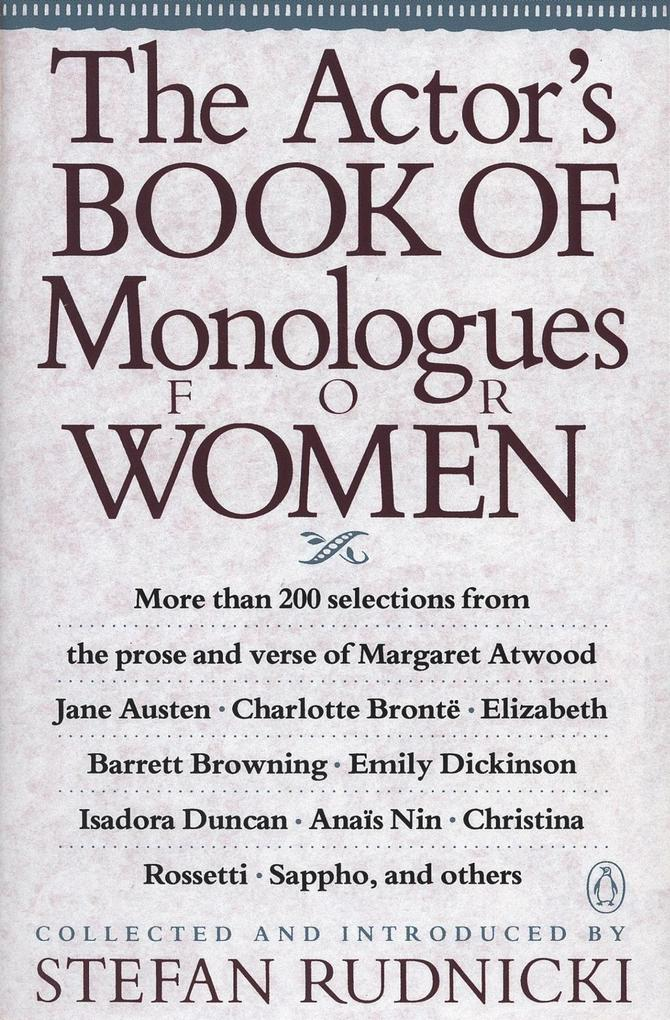 The Actor´s Book of Monologues for Women als eB...