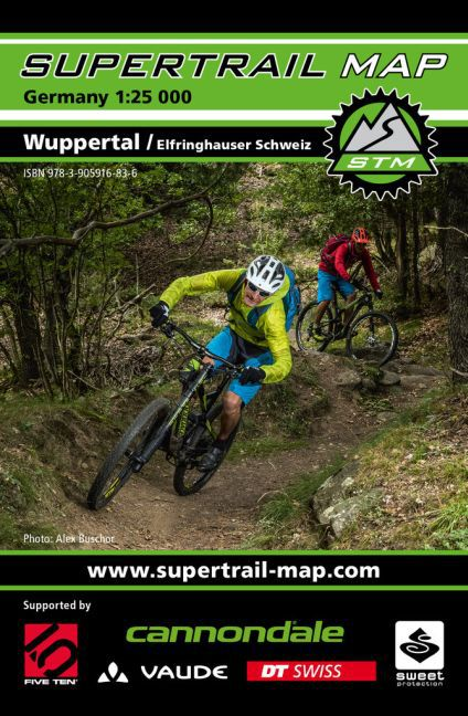 Supertrail Map Wuppertal / Elfringhauser Schwei...