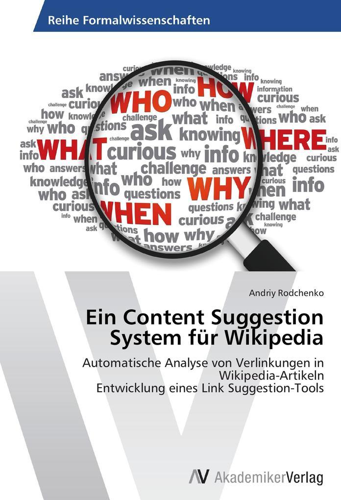 Ein Content Suggestion System für Wikipedia als...