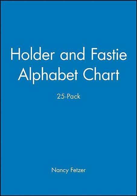Holder & Fastie Alphabet Chart als Taschenbuch
