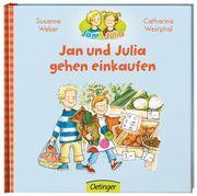 Jan und Julia gehen einkaufen