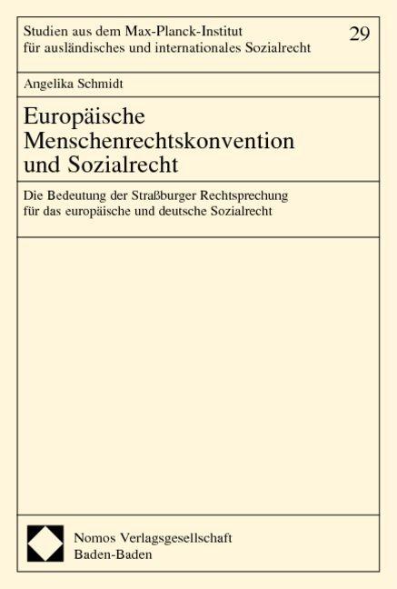 Europäische Menschenrechtskonvention und Sozialrecht als Buch