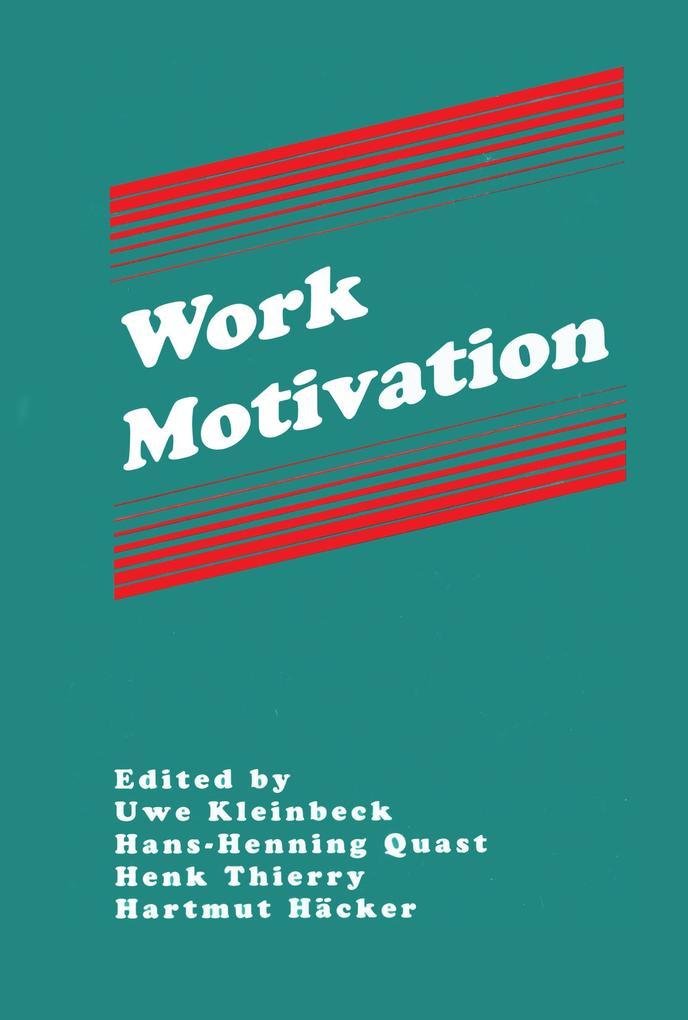 Work Motivation als eBook Download von