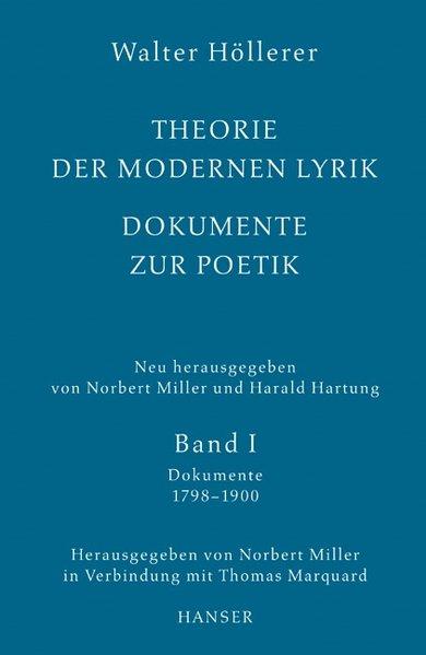 Theorie der modernen Lyrik. Dokumente zur Poetik als Buch